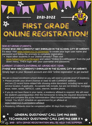 First Grade Registration