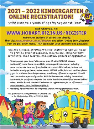 1st Grade Registration