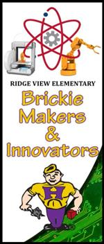 Ridge View Brickie Makers & Innovators Banner