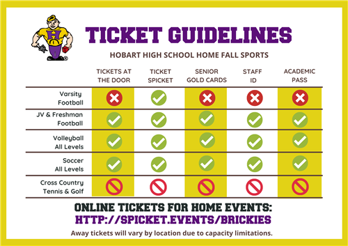 Ticket guielines for home events at home events