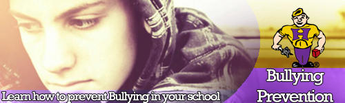 Bullying Prevention Banner - Learn how to prevent bullying in your school.