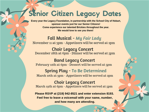 Senior Citizen Legacy Dates